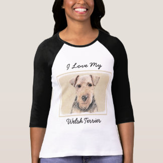 Welsh Terrier Painting - Cute Original Dog Art T-Shirt