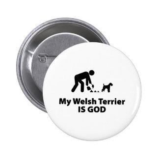 Welsh Terrier Pinback Button