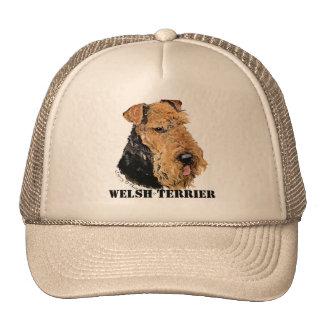 Welsh Terrier Portrait Trucker Hats