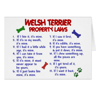 WELSH TERRIER Property Laws 2 Greeting Card