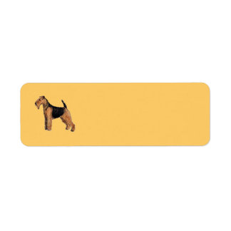 Welsh Terrier Return Address Avery Label Return Address Label