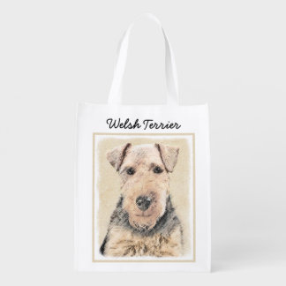 Welsh Terrier Reusable Grocery Bag