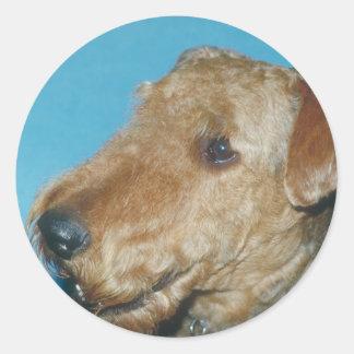 Welsh Terrier Round Sticker