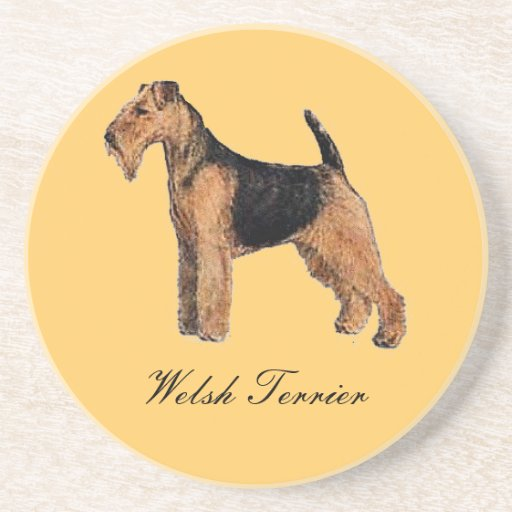 Welsh Terrier Sandstone Coaster