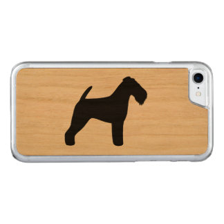 Welsh Terrier Silhouette Carved iPhone 8/7 Case