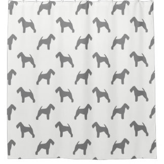 Welsh Terrier Silhouettes Pattern Shower Curtain