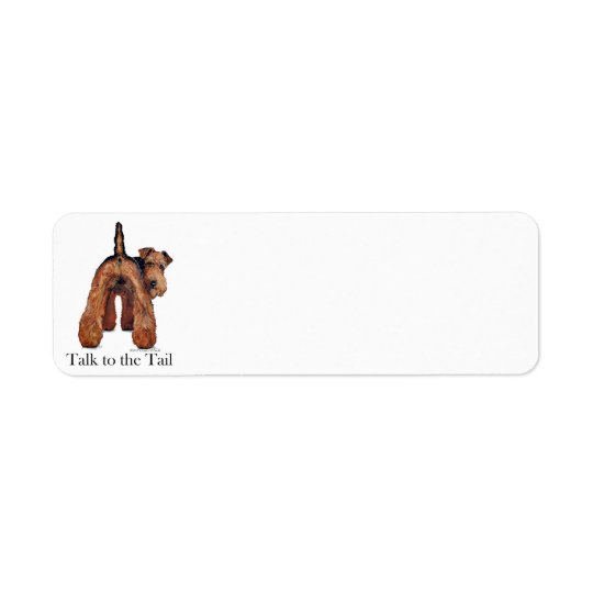Welsh Terrier Tail Return Address Label