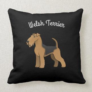 Welsh Terrier Throw Pillow