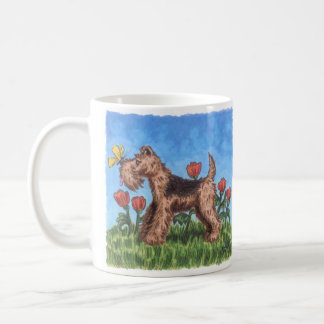 Welsh terrier with poppies 11oz. mug