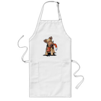 Welsh Terrier With Toy Fox Apron