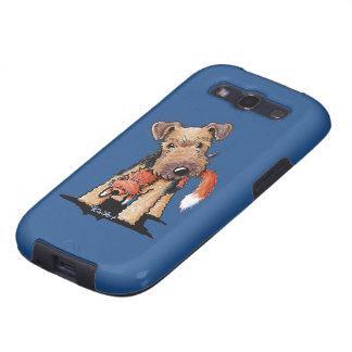 Welsh Terrier With Toy Fox Galaxy S3 Covers