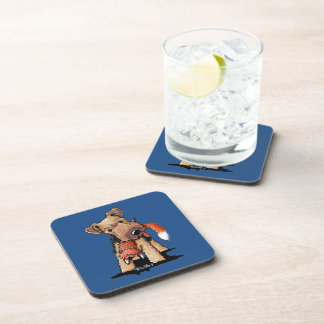 Welsh Terrier With Toy Fox Drink Coaster