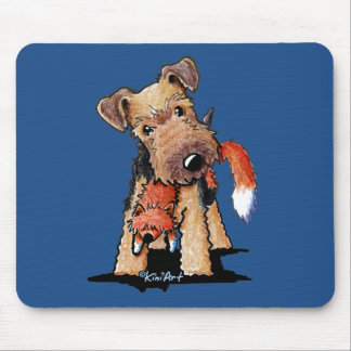 Welsh Terrier With Toy Fox Mouse Pads