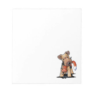 Welsh Terrier With Toy Fox Memo Notepad