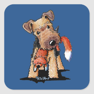 Welsh Terrier With Toy Fox Sticker