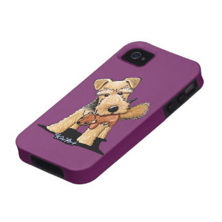 Welsh Terrier With Toy Squirrel Case-Mate iPhone 4 Case