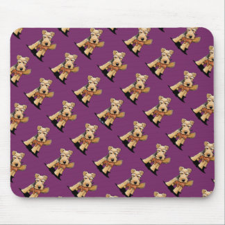 Welsh Terrier With Toy Squirrel Mouse Pads