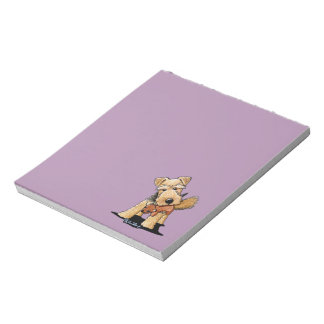 Welsh Terrier With Toy Squirrel Memo Pad