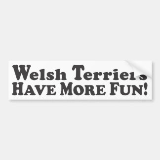 Welsh Terriers Have More Fun! - Bumper Sticker