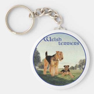 Welsh Terriers Key Ring