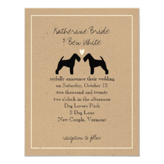 Welsh Terriers Wedding Invitation