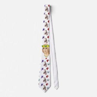 Welsh White Goddess Tie