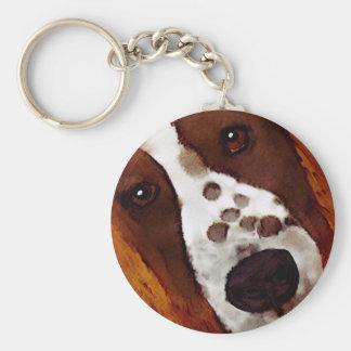 Welshie Face Art Key Ring