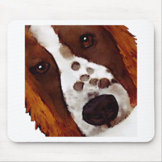 Welshie Face Art Mouse Pad