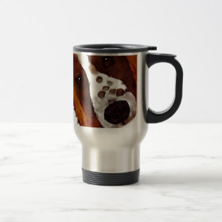 Welshie Face Art Travel Mug