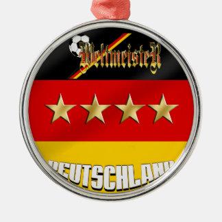 Weltmeister Deutschland Germany World Champions Metal Ornament