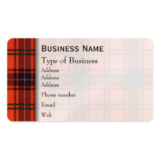 Wemyss clan Plaid Scottish tartan Pack Of Standard Business Cards