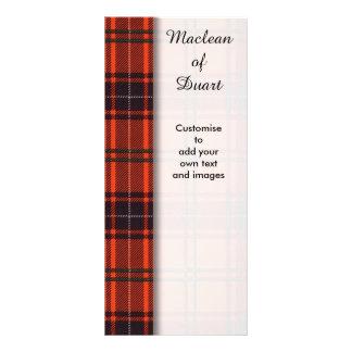 Wemyss clan Plaid Scottish tartan Customised Rack Card