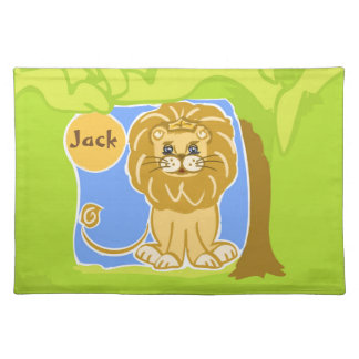 Wendell the Lion Cotton Placemat