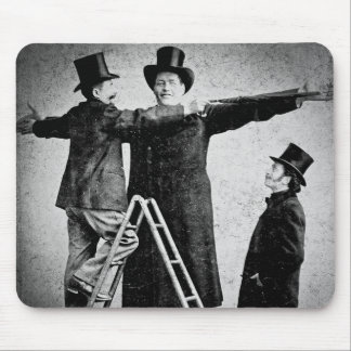 Wendt Cabinet Card Giant Circus Freak Sideshow Mousepads