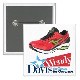 Wendy Davis for Governor 15 Cm Square Badge