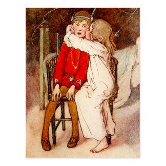 Wendy Kissing Peter Pan Postcard
