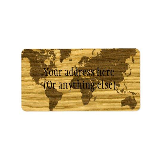 Wenge and Rift Oak World Map Label