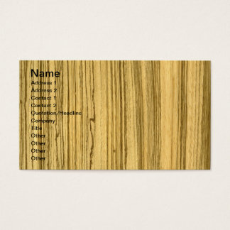 Wenge and Zebrano Veneer Wolf Business Card