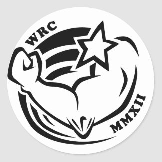 Wenis Rodeo Championships 2012 Classic Round Sticker