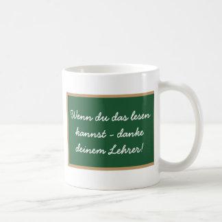 Wenn du das lesen kannst - danke deinem Lehrer Tee Tassen