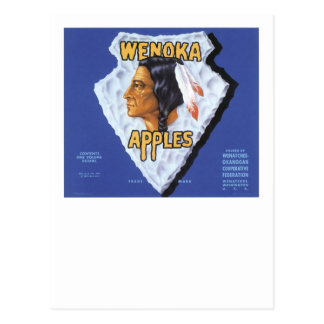 Wenoka Apples Postcard