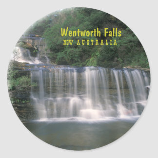 Wentworth Falls. Australia Classic Round Sticker