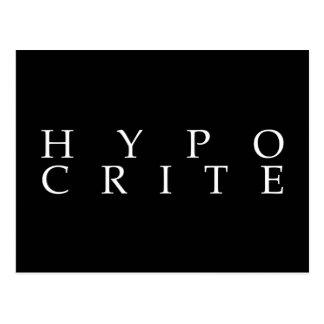 We're all hypocrites postcard