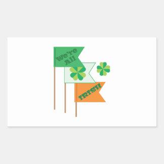 Were All Irish Rectangular Sticker