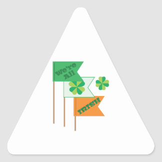 Were All Irish Triangle Sticker