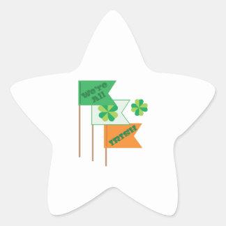 Were All Irish Star Sticker
