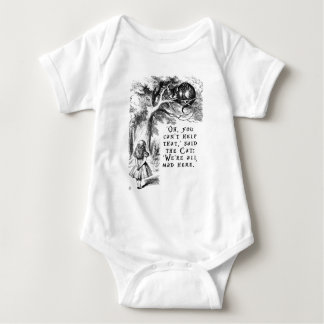 We're all mad here - Cheshire cat Baby Bodysuit