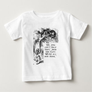 We're all mad here - Cheshire cat Baby T-Shirt
