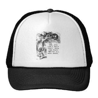 We're all mad here - Cheshire cat Cap