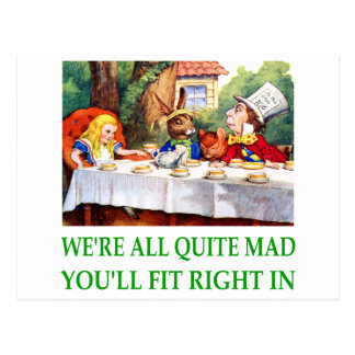 WE'RE ALL QUITE MAD YOU'LL FIT RIGHT IN! POSTCARD